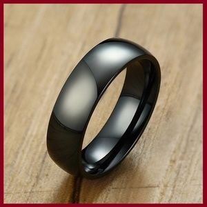 Other - Black Stainless Steel Wedding Band